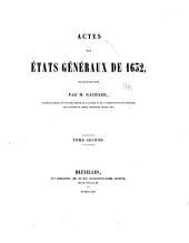 Actes des États généraux de 1632: Volumes2à3