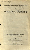Handbook of Descriptions of Specialized Fields in Agricultural Engineering PDF
