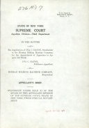 Download State of New York Supreme Court Appellate  Divison Third Department  Book