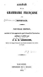 Abrégé de la grammaire française