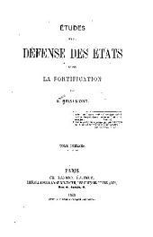 Études sur la défense des états: et sur la fortification
