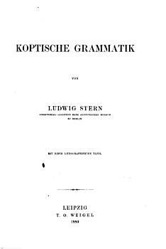 Koptische Grammatik PDF