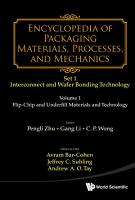 Encyclopedia of Packaging Materials  Processes  and Mechanics  Set 1   Interconnect and Wafer Bonding Technology PDF