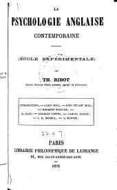 La psychologie anglaise contemporaine (école expérimentale)
