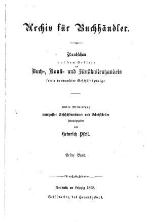 Archiv f  r Buchh  ndler PDF