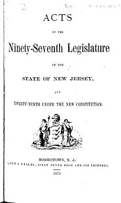 Acts of the General Assembly of the State of New Jersey PDF