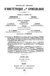 Nouvelles archives d'obstétrique et de gynécologie: Volume6