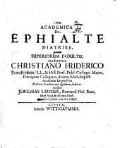 Academica de Ephialte diatribe