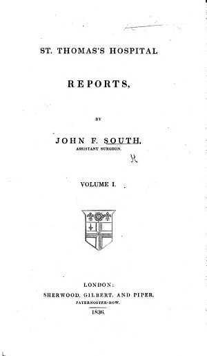 St  Thomas s Hospital Reports  vol  1