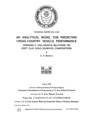 An Analytical Model for Predicting Cross country Vehicle Performance