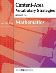 Content Area Vocabulary Strategies For Mathematics Book PDF