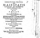 Exercitatio polit. de maiestatis civilis autoritate et officio circa sacra