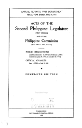 Acts of First- Philippine Legislature: Issues 1995-2075