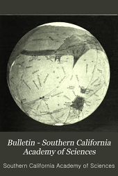 Bulletin - Southern California Academy of Sciences: Volumes 6-9