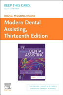 Dental Assisting Online for Modern Dental Assisting Access Card PDF