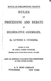 Rules of Proceeding and Debate in Deliberative Assemblies