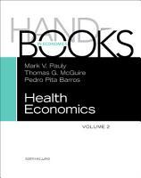 Handbook of Health Economics PDF