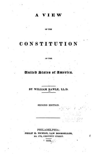 A View of the Constitution of the United States of America PDF