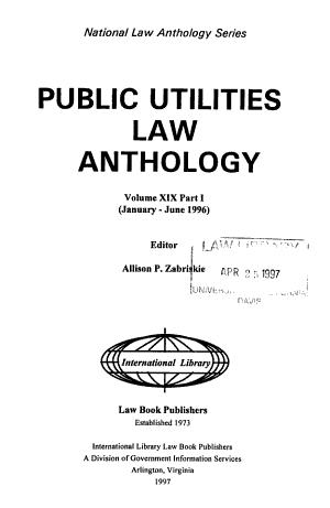 Public Utilities Law Anthology