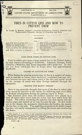 Fires in Cotton Gins and how to Prevent Them PDF