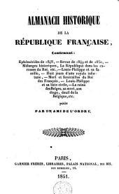 Almanach historique de la République française ...