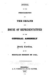 Journal of the Proceedings of the Senate and House of Representatives of the General Assembly ...