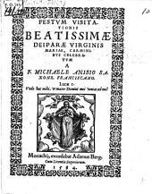 Festum visitationis B. Deiparae Virg. Mariae carminibus celebratum