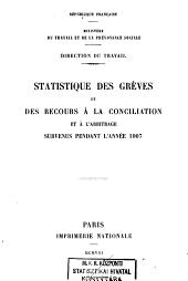 Statistique des Grèves et des Recours à la Conciliation et à l'Arbitrage