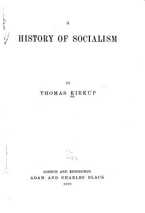 A History of Socialism PDF