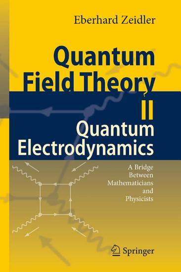 Quantum Field Theory II  Quantum Electrodynamics PDF