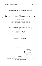 Annual Report of the Board of Education: Volume 67
