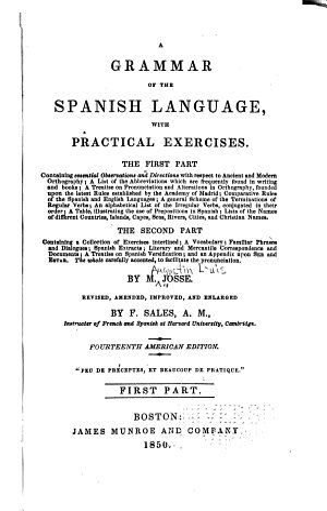 A Grammar of the Spanish Language