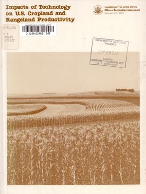 Impacts of Technology on U S  Cropland and Rangeland Productivity PDF