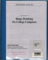 Binge Drinking on College Campuses PDF