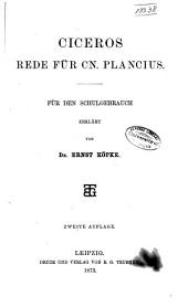 Ciceros Rede für Cn. Plancius