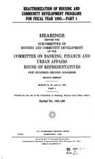 Reauthorization of Housing and Community Development Programs for Fiscal Year 1993 PDF