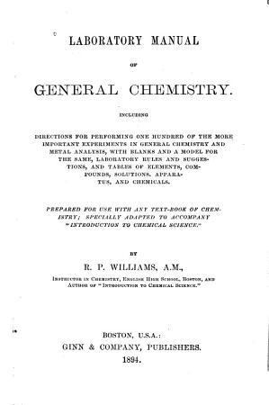Laboratory Manual of General Chemistry PDF