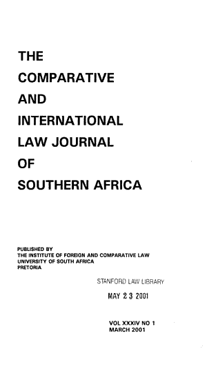 The Comparative and International Law Journal of Southern Africa PDF