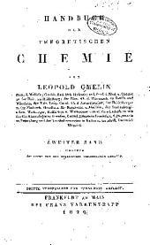 Handbuch der theoretischen chemie: Band 2,Teil 1