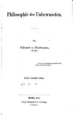 Philosophie des Unbewussten PDF