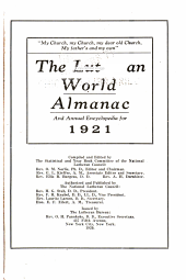 The Lutheran World Almanac and Annual Encyclopedia for 1921-: Volume 1