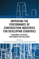 Improving the Performance of Construction Industries for Developing Countries PDF