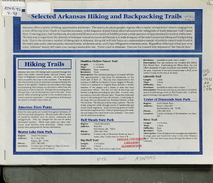 Selected Arkansas Hiking and Backpacking Trails PDF