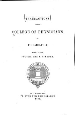 Transactions of the College of Physicians of Philadelphia PDF