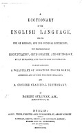 A Dictionary of the English Language  To which are added  a Vocabulary of Scripture Proper Names  and a concise Classical Dictionary PDF