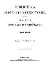 Biblioteka ordynacyi myszkowskiej: Tom 1