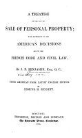 A Treatise on the Law of Sale of Personal Property PDF
