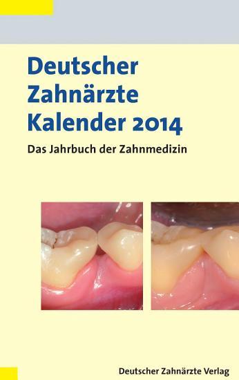 Deutscher Zahn  rzte Kalender 2014 PDF