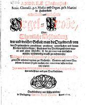 Andreæ Werckmeisters ... Cribrum musicum, oder musicalisches Sieb ... Zum Druck befördert durch Joham Georg Carln