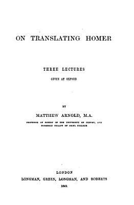 On translating Homer  3 lects PDF